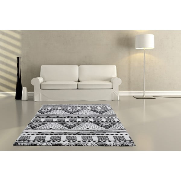 Koberec Aztec, black/white, 160x230 cm