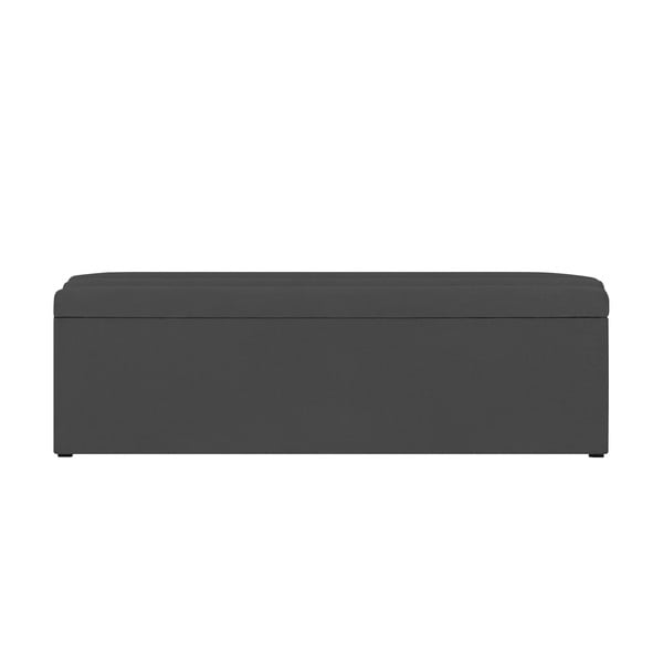 Tmavě šedý otoman s úložným prostorem Cosmopolitan Design LA, 160x47cm