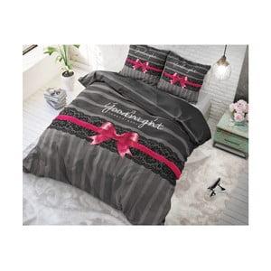 Bavlněné povlečení na jednolůžko Sleeptime Goodnight Ribbon, 140 x 220 cm