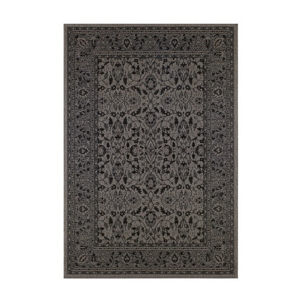 Covor potrivit pentru exterior Bougari Konya, 140 x 200 cm, negru - violet