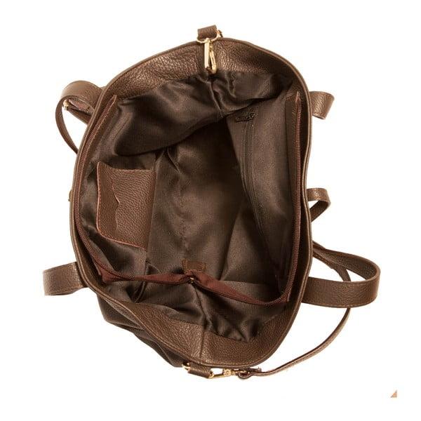 Hnědá kabelka z pravé kůže Andrea Cardone Matteo