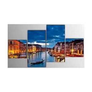 4dílný obraz Night City, 50x100 cm