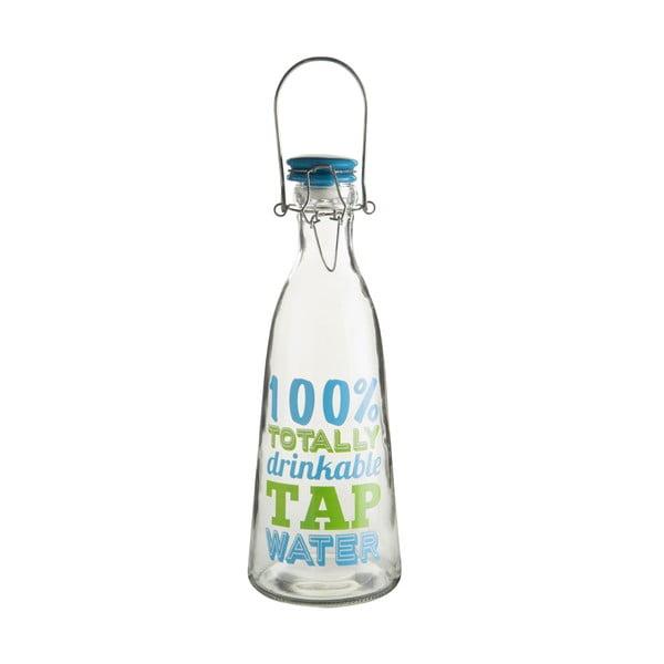 Sklenená fľaša na vodu s keramickým vekom Premier Housewares, 1000ml