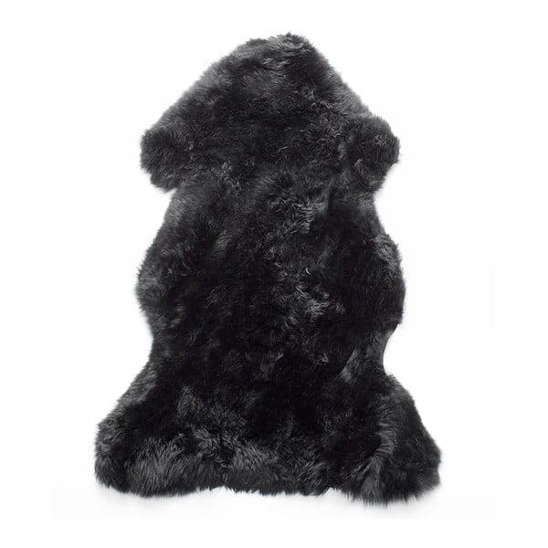 Kožešina z novozélandské ovce Black, 90 cm