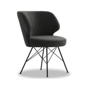 Tmavě šedá židle VIDA Living Erwan