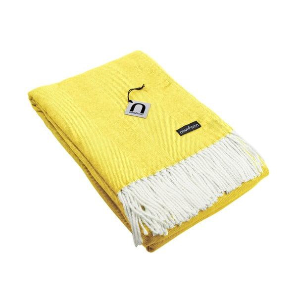 Deka Novoform Skagen, 130x170 cm, citronově žlutá
