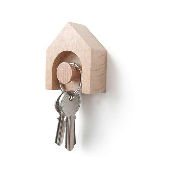 Haczyk na klucze z drewna bukowego Qualy&CO Hauss