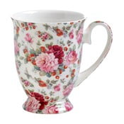 Hrnek z kostního porcelánu na nožce Maxwell & Williams Royal Old England Summer Rose, 300 ml