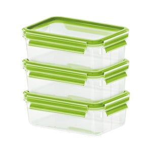 Sada 3 krabiček na jídlo Clip&Close Light Green, 3x0,55 l