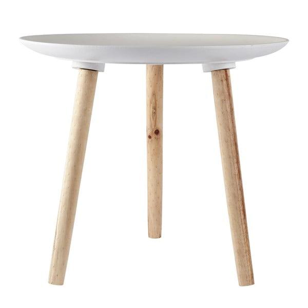 Odkládací stolek KJ Collection Natural Wood White, 47 cm