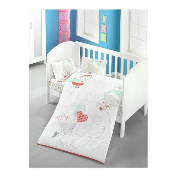 Lenjerie de pat cu cearșaf pentru copii Baby Sky, 100 x 150 cm