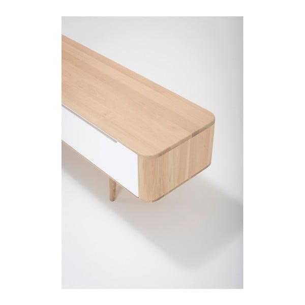 Televizní stolek z dubového dřeva Ena, 225x55x45cm