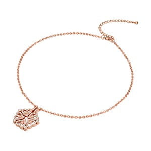 Náhrdelník se Swarovski Elements Saint Francis Crystal Heart Rose