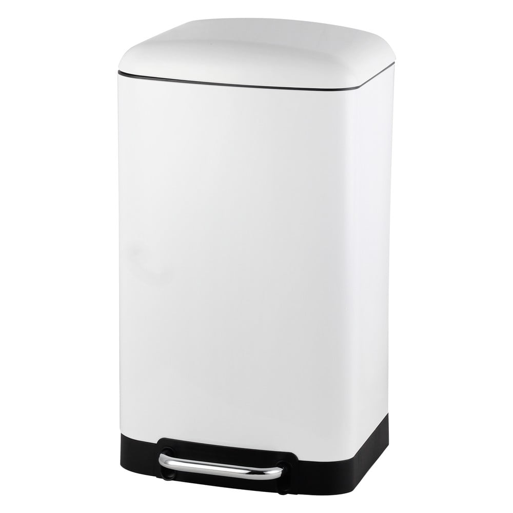 Bílý koš Steel Function Square Dustbin 30 l