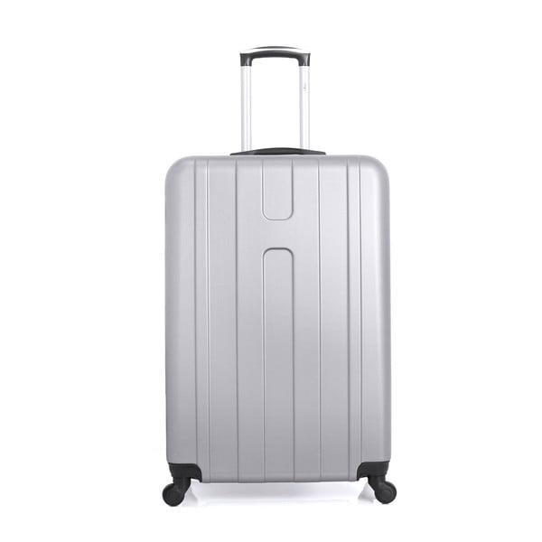 Cestovní kufr ve stříbrné barvě na kolečkách Hero Ioulia, 37 l