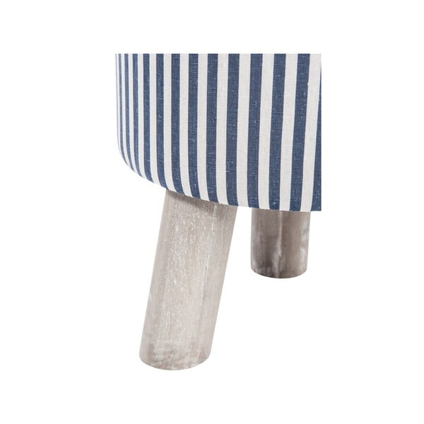 Taburetka 3Leg Blue and White