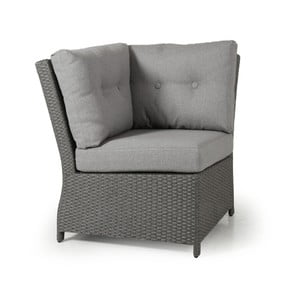 Rohový díl šedé zahradní sedačky Brafab Soho