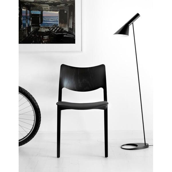 Židle z černě mořeného jasanového dřeva Stua Laclasica