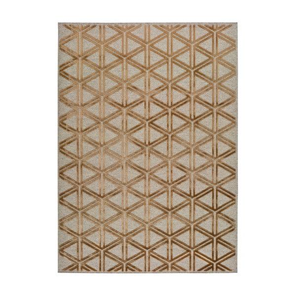 Šedo-oranžový koberec Universal Lana Triangle, 67 x 105 cm