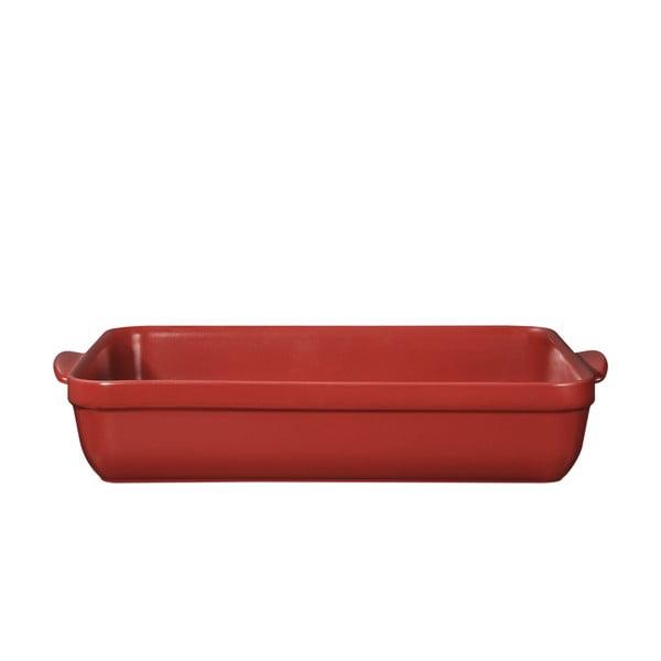 Červený pekáč Emile Henry 42x28 cm, limitovaná edice Sienna