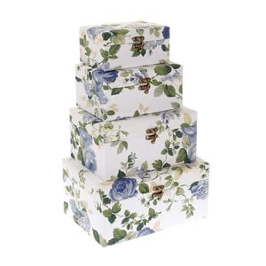 Sada 4 boxů Blue Roses