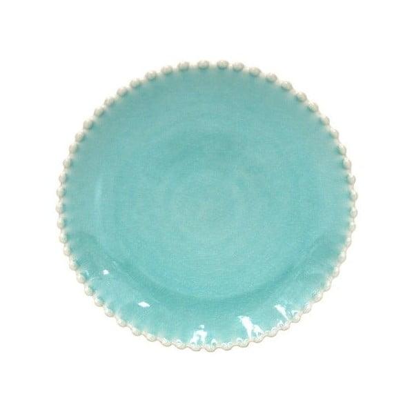 Tyrkysový kameninový dezertný tanier Costa Nova Pearlaqua, ⌀ 22 cm