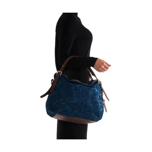 Kožená kabelka Elena, modrá