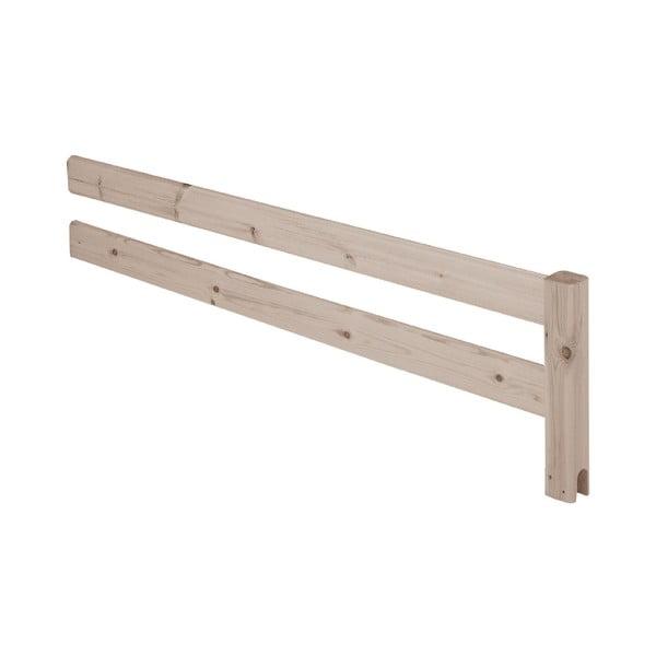 Hnědá bezpečnostní zábrana z borovicového dřeva k posteli Flexa Classic, délka157cm