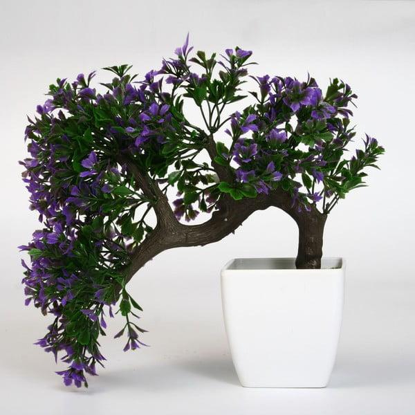 Umělá květina v květináči Bonsai Lila