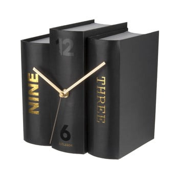 Ceas de birou, formă cărți Karlsson, negru de la Karlsson
