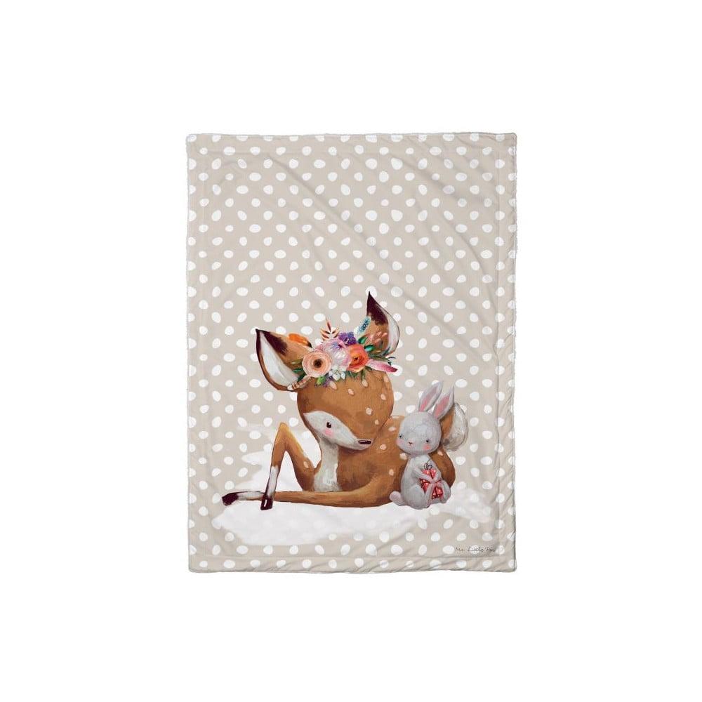 Dětská přikrývka Mr. Little Fox Doe and Her Friend, 100 x 70 cm