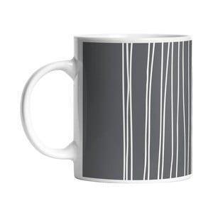 Hrnek Black Shake White Stripes in Grey, 330 ml