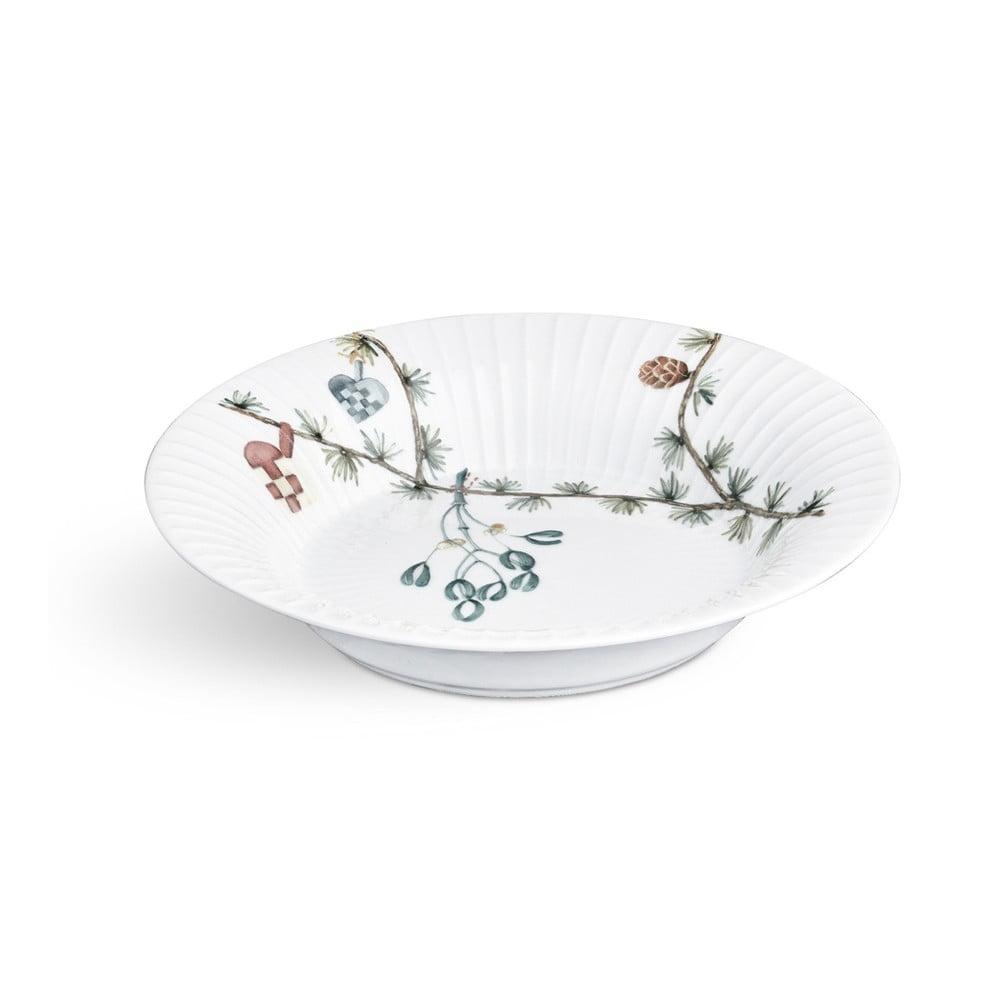 Bílý porcelánový vánoční polévkový talíř Kähler Design Hammershoi, ⌀ 21 cm Kähler Design