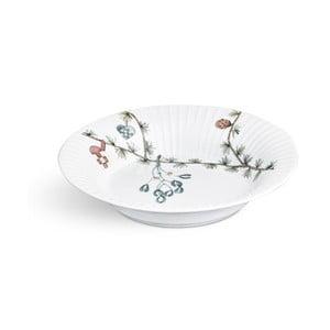 Bílý porcelánový vánoční polévkový talíř Kähler Design Hammershoi, ⌀ 21 cm