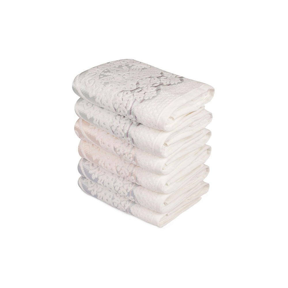 Sada šesti ručníků s ozdovným motivem Madame Coco Baroque, 90x50cm Saheser