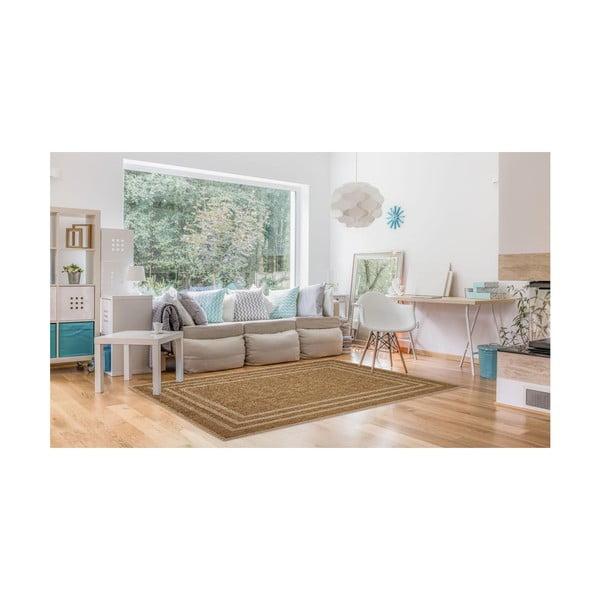 Covor foarte rezistent Floorita Border, 160 x 230 cm, bej