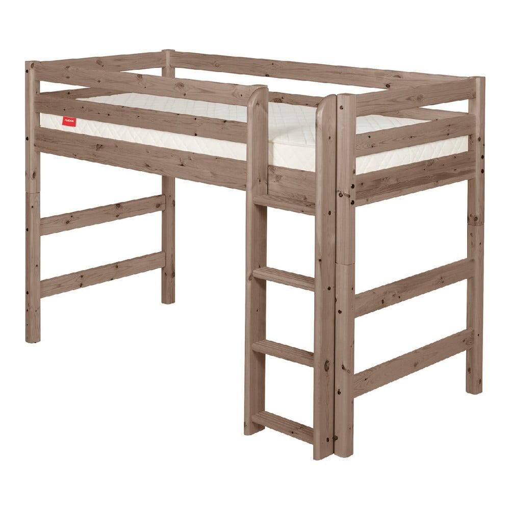 Produktové foto Hnědá dětská vyšší postel z borovicového dřeva Flexa Classic, 140x200cm