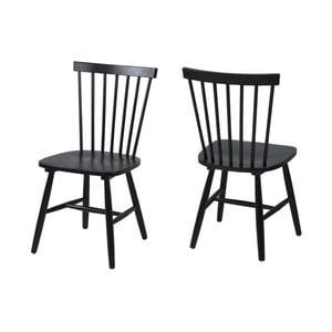 Černá jídelní židle Actona Riano