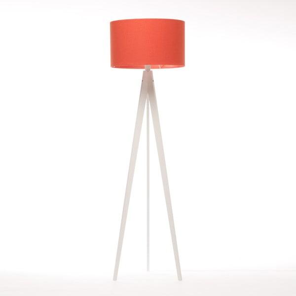 Stojací lampa Artist Red Felt/White Birch, 125x42 cm
