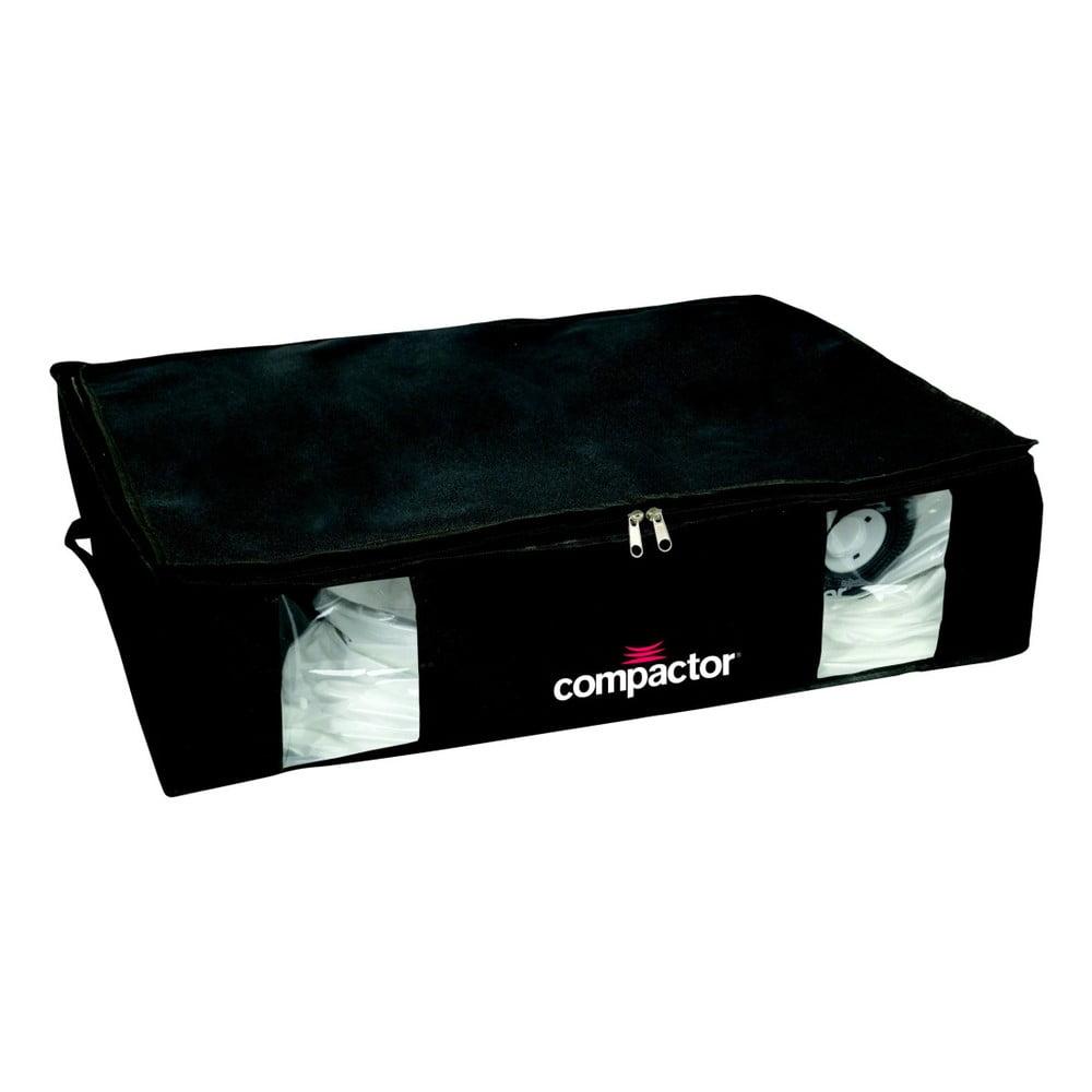 Černý úložný box s vakuovým obalem Compactor Black Edition, objem 145 l