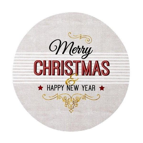 Set 4 suporturi pentru farfurie Ladelle Merry Christmas, ⌀ 33 cm