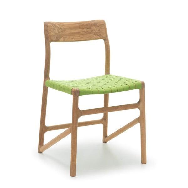 Židle Fawn Natural Gazzda, zelená