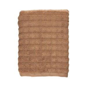 Jantarově hnědá osuška ze 100% bavlny Zone Prime Amber, 70x140cm