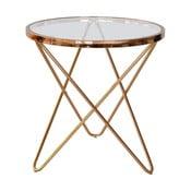 Skleněný odkládací stolek RGE Melissa, Ø54,5cm