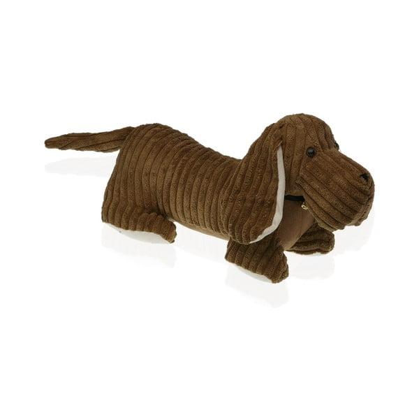 Dog tacskó formájú barna ajtó kitámasztó - Versa