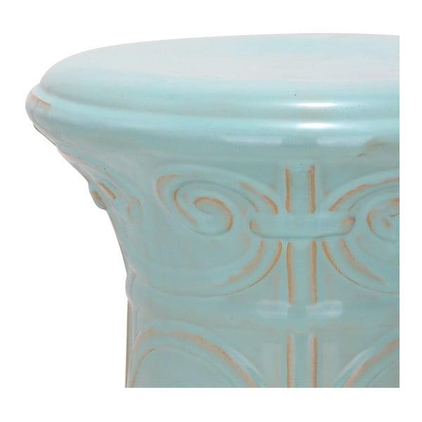 Tyrkysový porcelánový stolek Safavieh Imperial Scroll Light Aqua