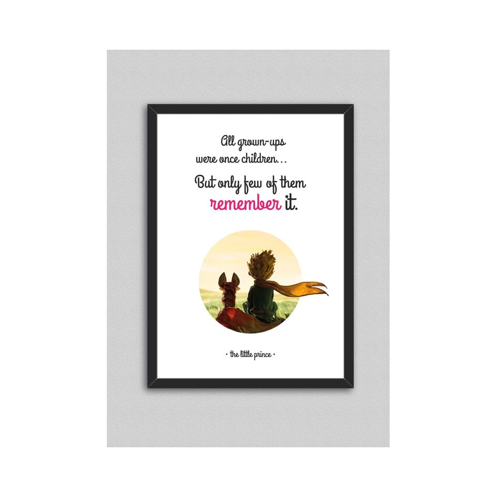 Obraz North Carolina Scandinavian Home Decors Little Prince Quote V5, 33 x 43 cm