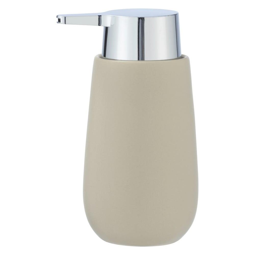 Produktové foto Béžový keramický dávkovač na mýdlo Wenko Badi, 320ml