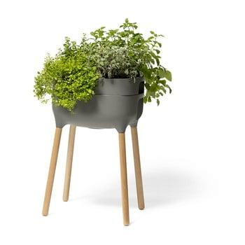 Vas pentru cultivarea plantelor Plastia High Urbalive, înălțime 77 cm, gri imagine