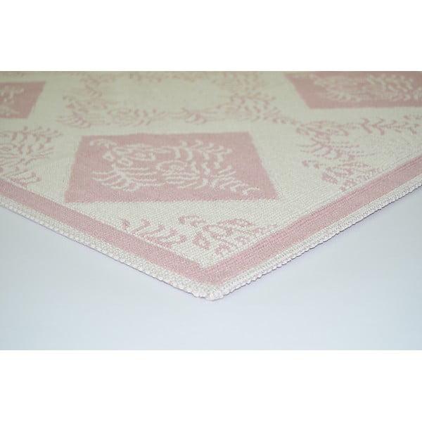 Pudrově růžový odolný koberec Vitaus Baklava, 80 x 150 cm